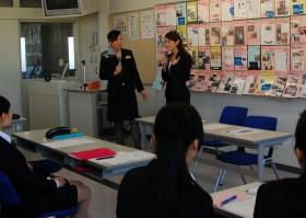 北海道国際航空CA内定の先輩が来校!